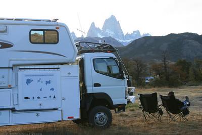 View of Mt. Fitz Roy, El Chaiten, Argentina.