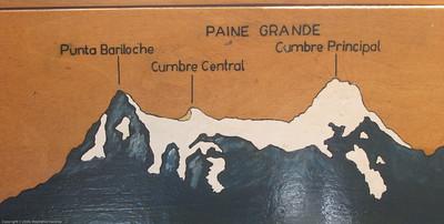 Park info graphic detail. Parque Nacional Torres del Paine, Chile
