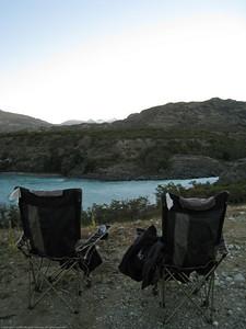 River campsite, along Ruta 7, the Carretera Austral, Chile.