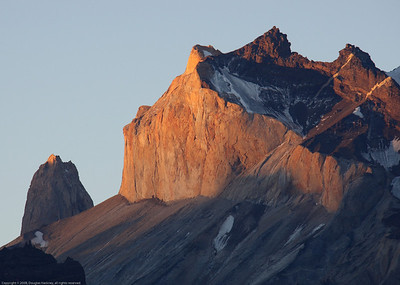 Almirante Nieto at sunset. Parque Nacional Torres del Paine, Chile