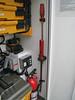 Long standard screwdriver and medium pry bar. Shop storage box.