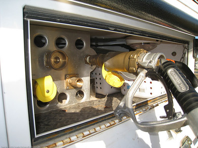 Filling the main LP tank from an AutoGas pump . Linares, Chile.