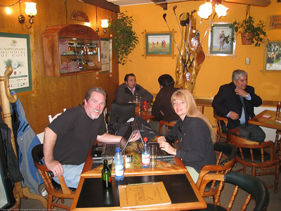 Last night at the Italian restaurant. We usually sat at the table in the corner. We felt like family by this point. They had taken such good care of us during our time there, even giving us a ride home one cold & rainy night. Valdivia, Chile.