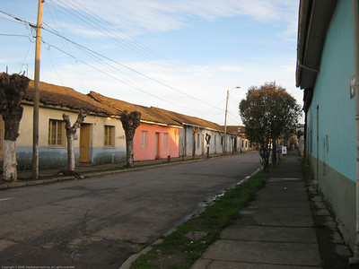 Typical urban homes. Lenares, Chile.
