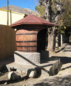 Bus stop. Paiguano, Chile.