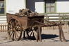 Ore cart. Abandoned ghost town of Humberstone, Chile. Site of a former nitrate oficina (processing plant).
