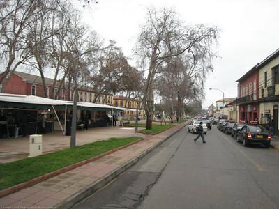 Typical boulevard. La Serena, Chile.
