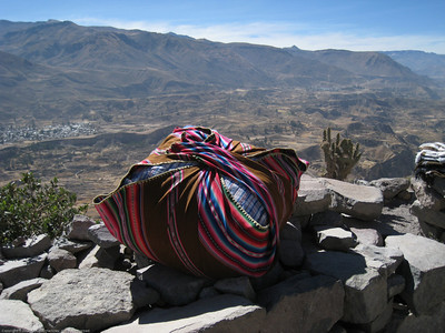 Vendor bundle. Colca Canyon, Peru.