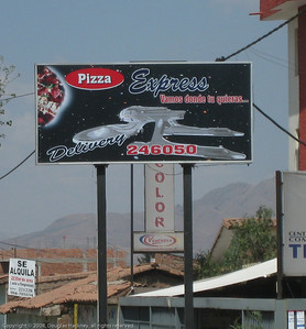 Outdoor sign created by someone who had never seen the show. Cusco, Peru.