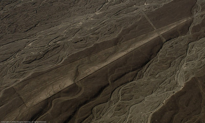 Cropped section of enhanced photo. Nazca Lines, Nazca Peru.
