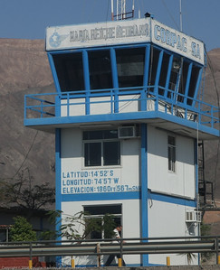Airport tower. Nazca, Peru.