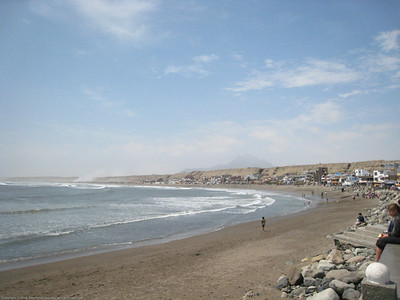 Beach view. Huanchaco, Peru.