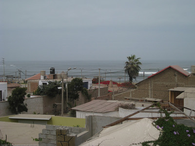 View from the top of the camper.  Huanchaco, Peru.
