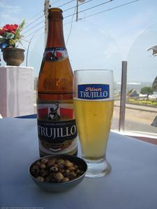 Lunch beer. Huanchaco, Peru.