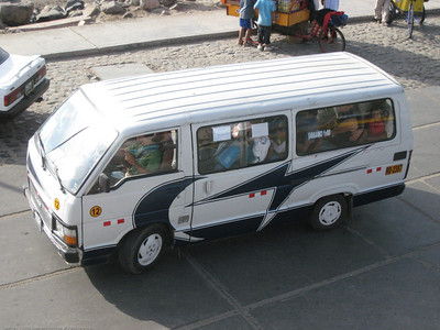 Typical mini-bus. Huanchaco, Peru.