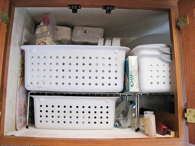 Upper left galley cupboard pack. Rincon del Viajero. Otavalo, Ecuador.
