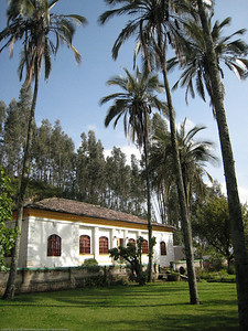 The campground is on the grounds of a former hacienda that once included thousands of surrounding acres / hectares. Rincon del Viajero. Otavalo, Ecuador.