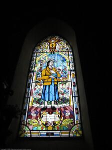 Stained glass window. Otavalo, Ecuador.