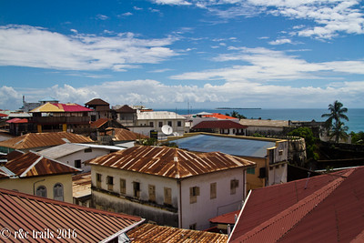 rooftops with a view of the Indian Ocean