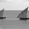 dhows are a common form of transport from zanzibar to dar es salaam