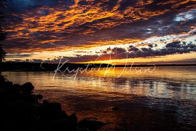 Cold Lake At Sunset
