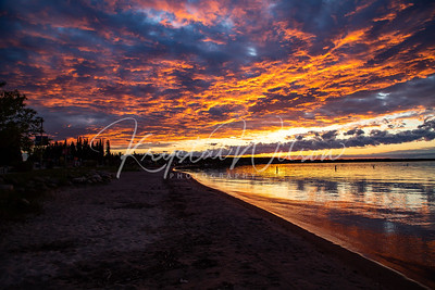 Fiery Skies Over Cold Lake