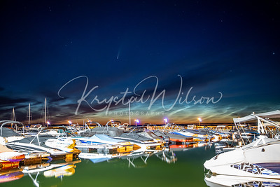 Comet NEOWISE Over Cold Lake Marina