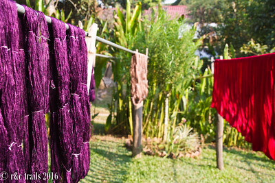 hand-dyed yarns from natural dyes