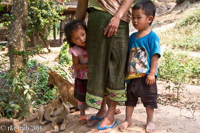 village kids and pups