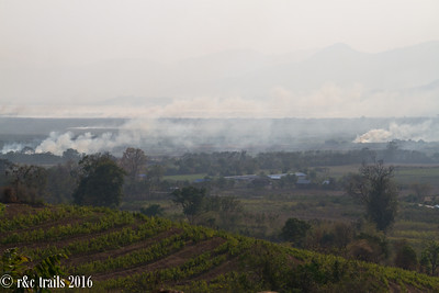 given this is dry season, several farmers cleared out their farms each day causing much lung trouble.
