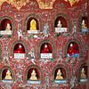 little Buddha statues inside a monastery