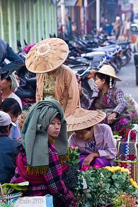 ladies selling flowers