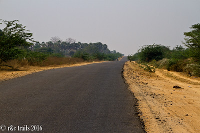 very arid landscape during this dry season