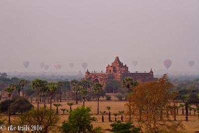 balloons over bagan and dhammayangyi temple