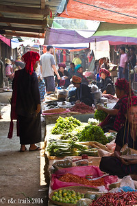 Nan Pan Market - these ladies are from nearby villages (note the headwear)