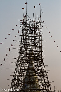 this is how scaffolding is done in burma