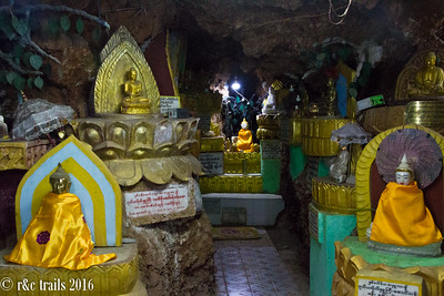lovely artificial lighting in the Shwe U Min Paya caves