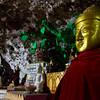 the strange caves of Shwe U Min Paya filled with golden Buddhas