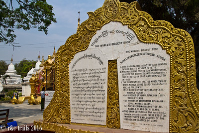 world's biggest book at kuthodaw pagoda.