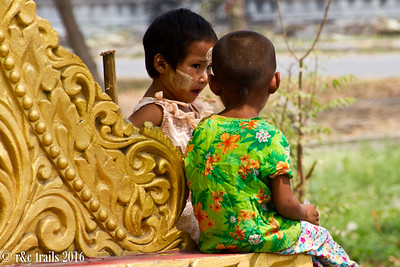 people of burma wear what resembles facepaint known as thenaka, used to prevent sunburns.