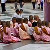 young lady monks doing chants