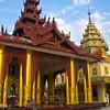 various temples at shwedagon pagoda