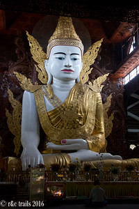 the large sitting Buddha at Ngahtatgyi Paya