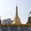Sule pagoda in the heart of downtown Yangon