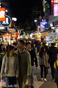 night markets at Yuanshan
