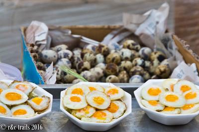 quail eggs sunnyside up
