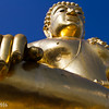 giant golden buddha at the golden triangle