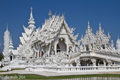 the white temple - a strange mix of contemporary architecture, action movies, and buddhism