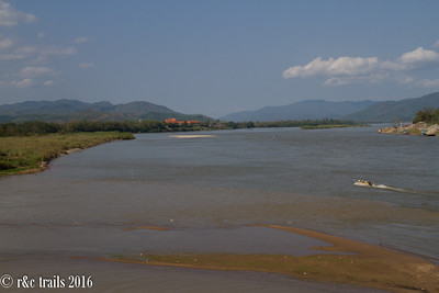 mekong river where thailand, myanmar and laos intersect