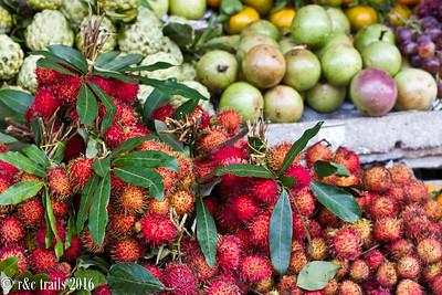 rambutan (chom choms) and other fancy fruits
